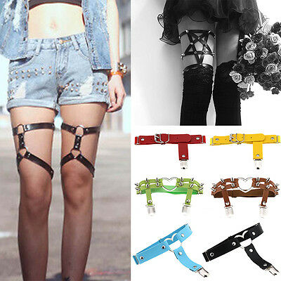 New Women Ladies Leather Leg Ring Adjustable Cosplay Party Fashion Accessories