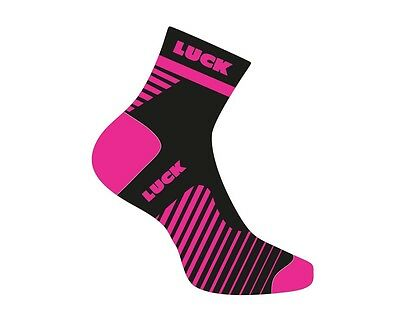 Calcetines Ciclismo Luck Rosa-Negro