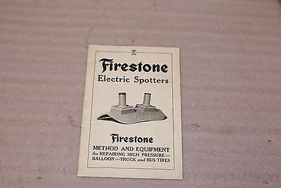 1926 Firestone Electric Spotters Method and Equipment For Repair Balloon Truck