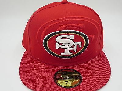lowest price c9e92 0c720 San Francisco 49ers Red New Era NFL 2016 Sideline 59FIFTY Fitted Hat Cap