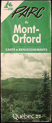 Mont Orford - Parc - Quebec - Canada - Vintage 1980's  Map - French Brochure