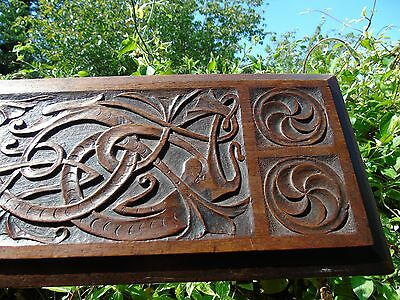 Anderson Stanford & Ridgeway carved oak footrest stool table carved dragon art