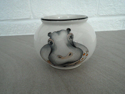 Arthur Wood 'Back to Front' Sugar Bowl HIPPOPOTAMUS