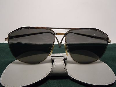 DUNHILL 6096 Sunglasses Titanium and Solid Gold 18K Vintage 80's  With Its Case