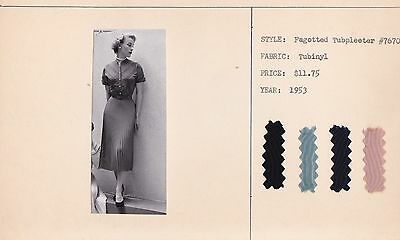 A RARE Collection of Designer's Fashion Plate Photo Index Cards 1953 & 1954