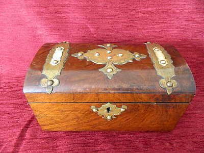Victorian Mahogany Gothic Revival Tea Caddy With Domed Cover