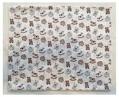 Handmade Babys Pillow Case With Rocking Horse,teddy,rabbit Pattern