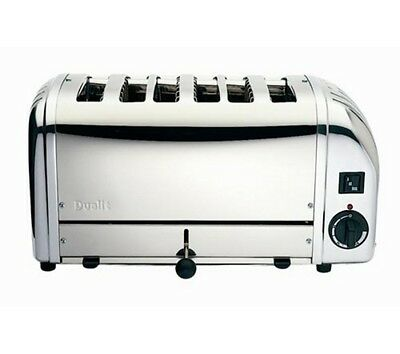 Dualit 6-Slice Manual Pop-Up Toaster. Stainless Steel. 208 Volt