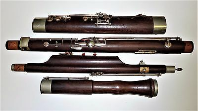 20th cent. LP wooden bassoon Made by Boosey & Hawkes London