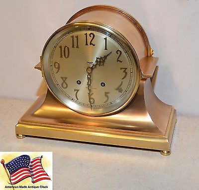 Restored & Rare Seth Thomas Celtic-1921 Brass & Bronze Antique Ships Bell Clock