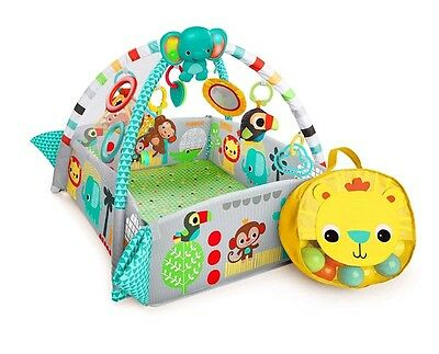 Bright Starts 5-in-1 New Born Activity Gym Baby Playtime Mat Soft Ball Pit