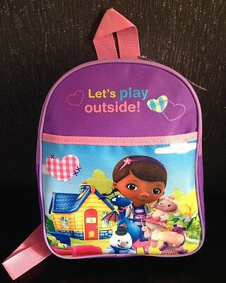 New Disney Doc McStuffin McStuffins School Bag Back Pack Rucksack BNWT Girls