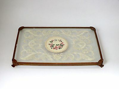 Vintage petit point  embroidered  Tray Dressing Table
