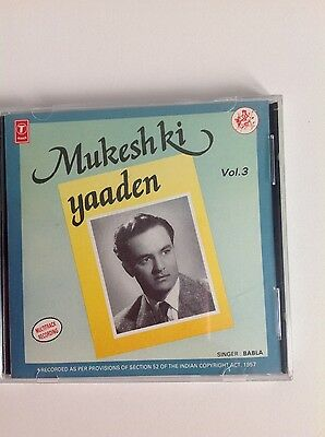 Bollywood, Mukesh ki Yaaden by Babla Mehta, Volume 3 - 1 CD