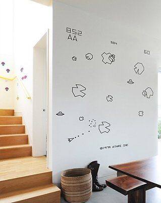 Asteroids Re-Stik wall decals