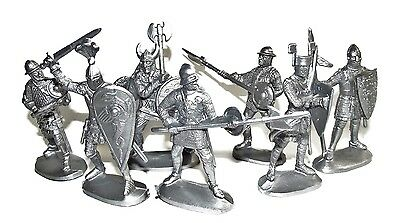 Russian toy soldiers. Medieval knights. 1/32 scale. 60 mm.