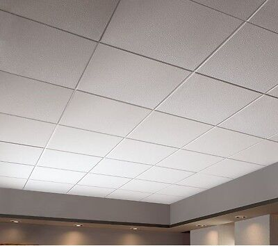 suspended ceiling grid and tiles