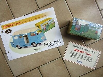 """DINKY TOYS - Estafette Renault """"Camping"""" - 565 - Editions Atlas - 1:43 - Neuf"""