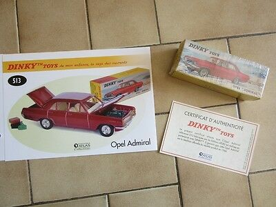 """DINKY TOYS - OPEL """"Admiral"""" - 513 - Editions Atlas - 1:43 - Neuf"""