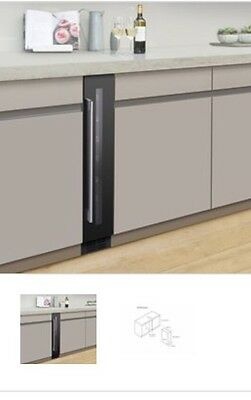 Under Counter/Free Standing 150mm Wine Cooler in black