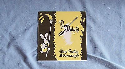 Pendelfin YELLOW FOLD OUT ADVERTISING BOOKLET from early days