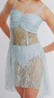 Delicate Lace Sheer Lyrical Ballet CMED Curtain Call Costume