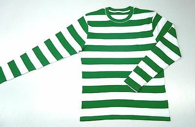 Chino Jersey Green White Striped LS Shirt NEW Vintage Motorcycle Club Wild One