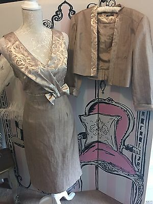 Roman Mother Of The Bride Outfit Size 12 - 14 Dress And Jacket