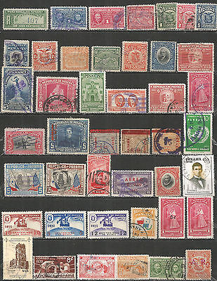 Panama SELECTION of used/mint MH (*) stamps