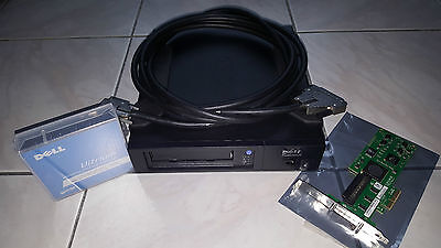 Dell PowerVault PV110T LTO3 400/800GB + CARTE SCSI LSI PCIe + CABLE