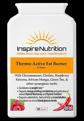 THERMO ACTIVE FAT BURNER 90 Capsules Fat Metaboliser Weight Loss Aid Supplement