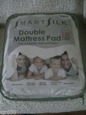 Silk Filled 100% SmartSilk™ Fitted Mattress Topper Double All Seasons Rrp £100