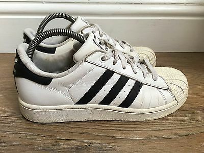 ADIDAS SUPERSTAR WHITE/BLACK Leather Trainers Size UK 5 EUR 38