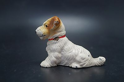 VTG Cast Iron SEALYHAM TERRIER Puppy Dog Card Holder HUBLEY