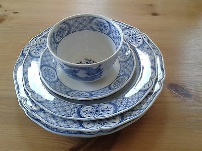 Antique Furnivals Old Chelsea Bowl And Plate Set