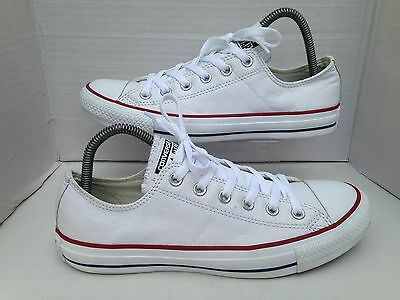 Converse White Leather Trainers Size UK 7