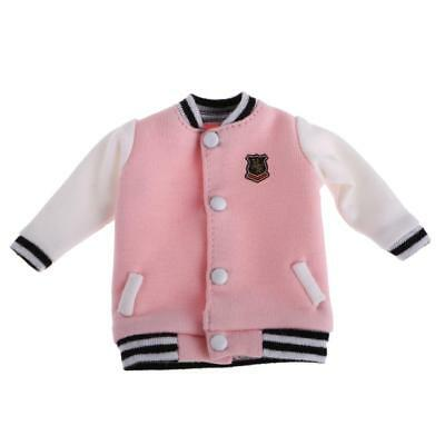 Pink Doll Casual Baseball Clothes Coat Top pour 12 '' Blythe Doll Clothing