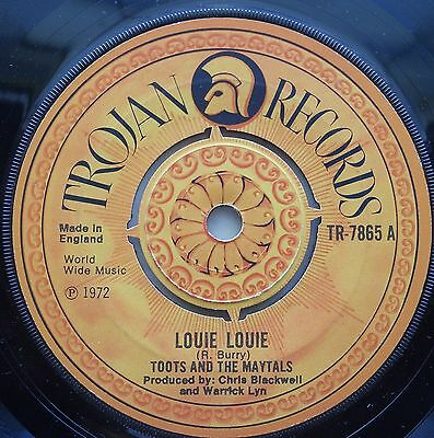 Toots And The Maytals - Louie Louie / Pressure Drop '72 - Trojan UK 45 1972