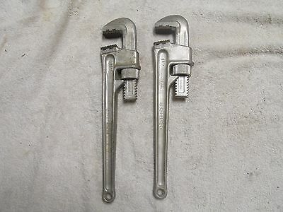 Schick WW2 Aluminum 14 Inch Pipe Wrenches Lot of 2