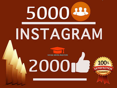 5000-Instagram-followers + 2000 likes-Ultra High Quality-fast service