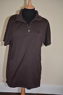 Icebreaker superfine ultralite  merino wool t-shirt MEN brown size L