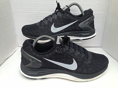 Nike Lunarglide+ 5 Shield Black/Silver/White Trainers Size UK 7