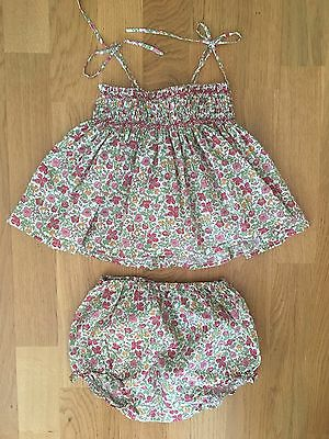 Bonpoint Set Top And Bloomers 18 M