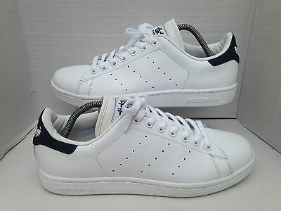 Adidas Originals Stan Smith White/Navy Blue Trainers Size UK 9.5 2005 Vintage