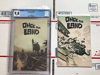 Once Our Land #1 CGC 9.8 (2016, Scout Comics) and raw copy of Issue #2
