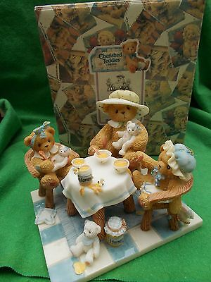 Retired Cherished Teddies Mimi, Darcy and Misty There's Always Time For Friends