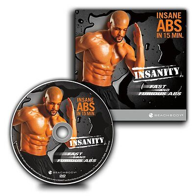 Insanity DVD Set Fast  Furious ABS Maximum Results less Than 15-Minute Workout