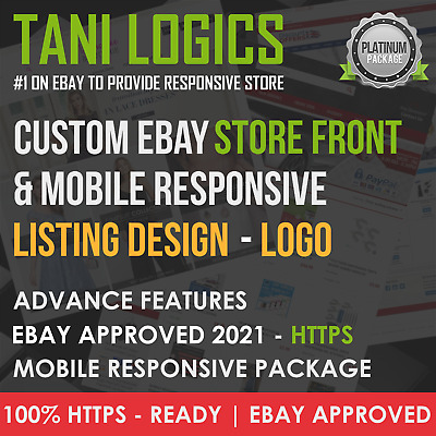 Custom Mobile Responsive eBay Shop & Listing Template Design - HTTPS Ready 2019