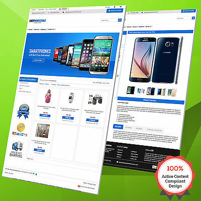Complete eBay Shop Design & Auction Listing Template Mobile Responsive 2017