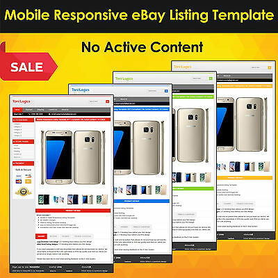 Mobile Responsive eBay Listing Template Auction 2019 Approved HTML-Universal